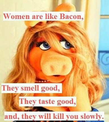 PERFECT!!!!! Miss Piggy - Getting married actually increases a man's quality of life but Miss Piggy is the best! :)