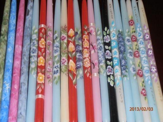 πασχαλινές λαμπάδες decorativepainting vera- 50 γρ ζωγραφισμένη στο χερι | myartshop