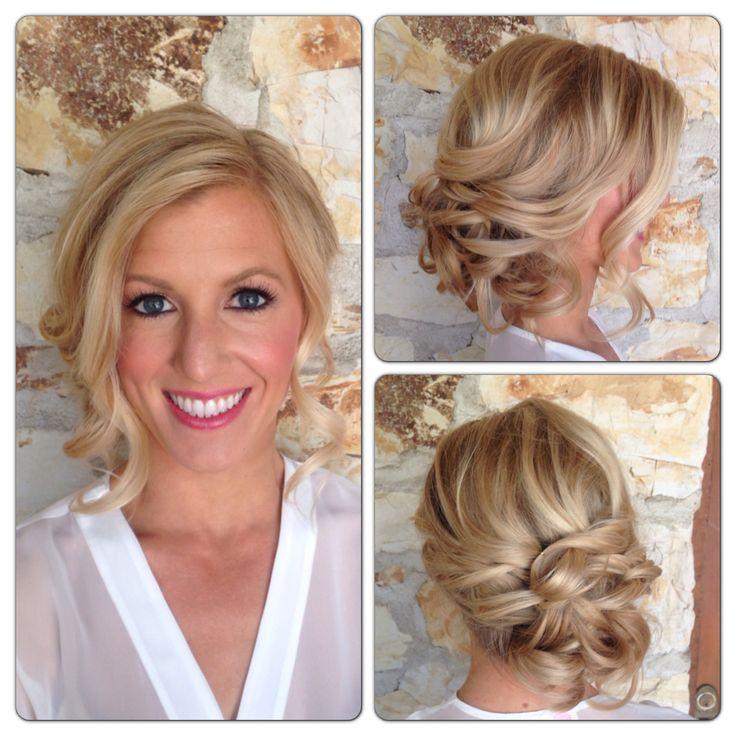 Carmel weddings, Carmel brides, Holman ranch. Bridal hair, up styles, updo, hair by www.melissamariehair.com