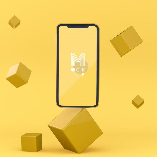 Download Pop 3d Yellow Phone Mockup For Free Phone Mockup Mockup Free Psd Mockup