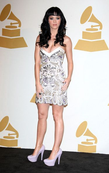 Katy Perry Photos Photos - Singer Katy Perry poses in the press room during The GRAMMY Nominations Concert Live! at the Club Nokia on December 2, 2009 in Los Angeles, California. - The GRAMMY Nominations Concert Live - Press Room