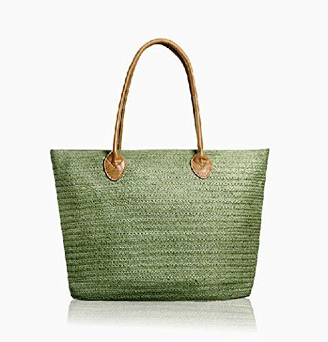 GSPStyle Women Straw Shoulder Beach Bag Weave Matched style Colour Green GSP http://www.amazon.co.uk/dp/B00M2O4TV8/ref=cm_sw_r_pi_dp_7HDaub1TYHVNG