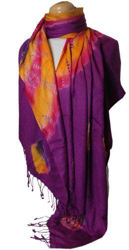 Magenta Tie Dye Pashmina Shawl/Wrap Peach Couture. $14.95. Save 63% Off!
