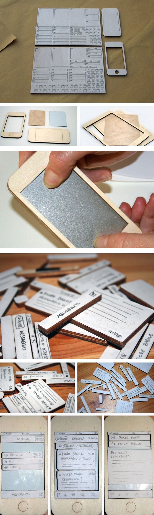 design & human -- wooden interface prototyping tool