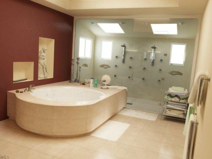 Die besten 25+ Badezimmerwand ideen Ideen auf Pinterest Bad Wand - wandgestaltung braun