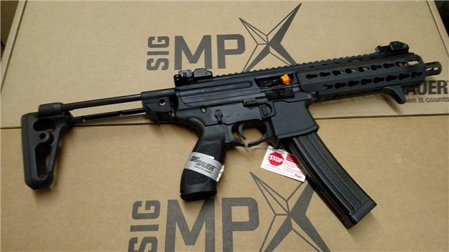 Sig MPX SBR Keymod 9mm New Collapsible Stock NFA : Short Barrel Rifles (SBR) at GunBroker.com