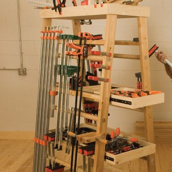 A-Frame Mobile Clamp Rack Woodworking Plan by Woodcraft Magazine