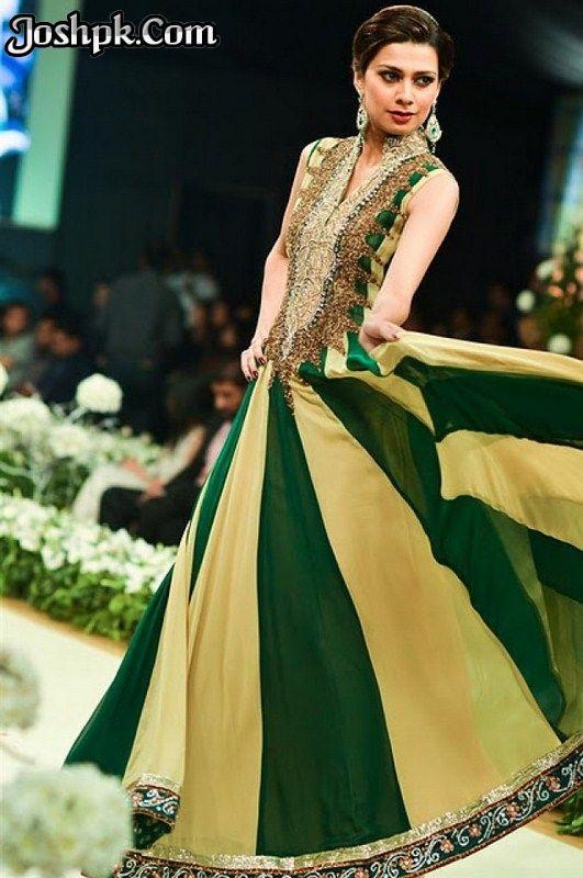 Pakistani Designer Clothes 2013 | Pakistani Designer Mehndi Dresses For Function 2013
