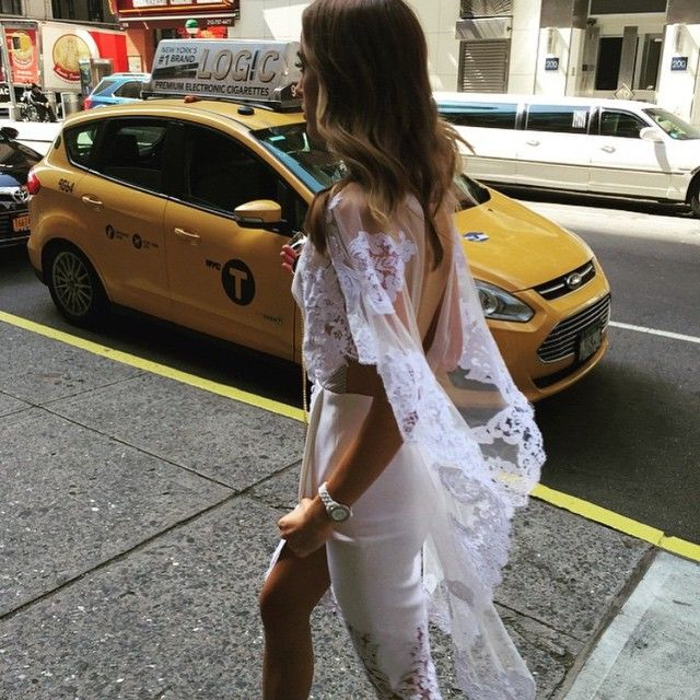 J'Aton Couture dress on the streets of New York   Get2Style.com