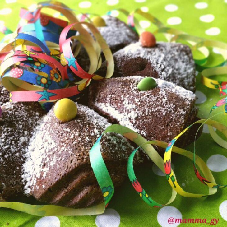 Torta di Carnevale al cioccolato e Smarties