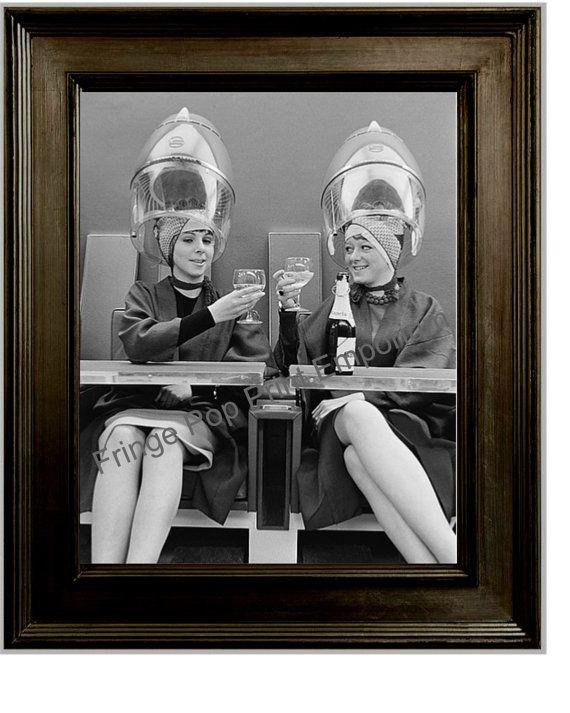 Hairdresser art print 8 x 10 retro kitsch 1950 39 s women for 1950 beauty salon