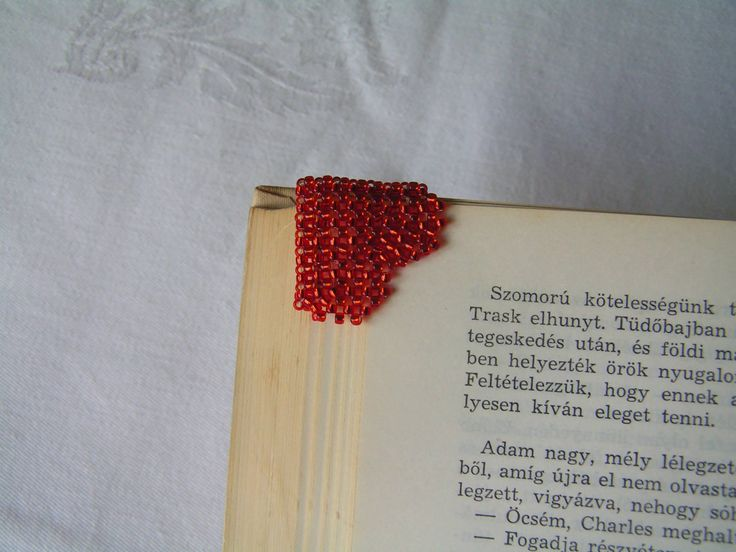 Mini heart bookmark - Simple, practical and showy trifle not only for Valentine's Day.