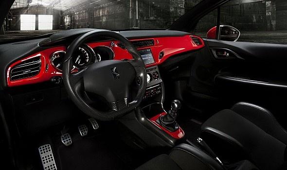 Citroën DS3 interieur rood/zwart