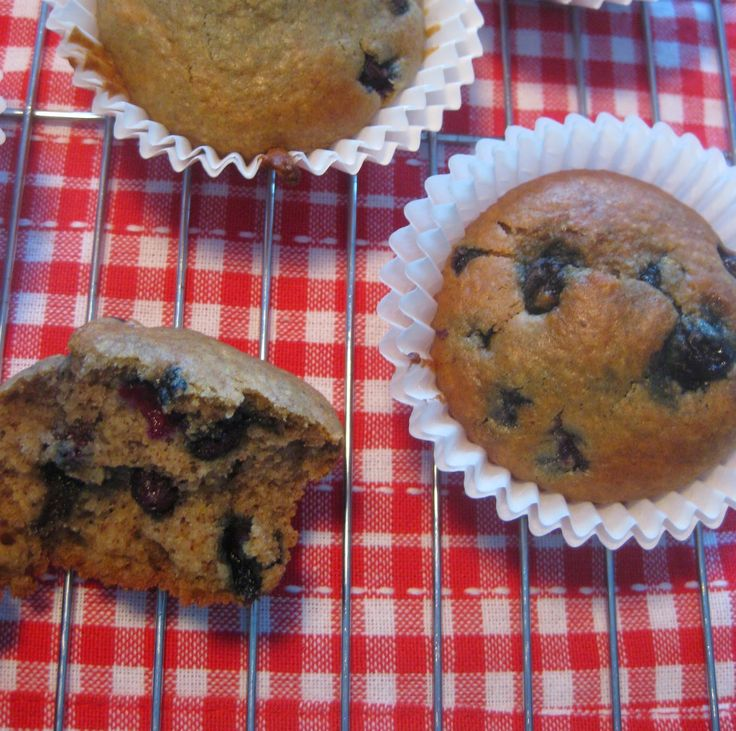 My Thermomix Kitchen - Blog for healthy low fat Weight Watchers friendly recipes for the Thermomix : Blueberry and Oatmeal Muffins