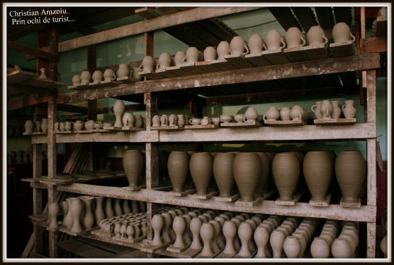 Pottery at it's best. In the small town of Marginea, in MOldova, potters use a special kind of clay that produces black pots that resemble metal. It is amazing.