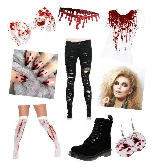 """""""Halloween Costume: Bloody Mary"""" by missolivetree ❤ liked on Polyvore featuring Dr. Martens"""