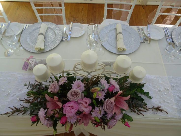 Bridal table decor