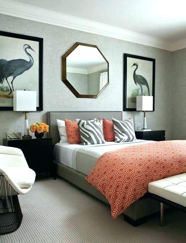 Grau Und Orange Schlafzimmer #burntorange #streichen #wand #fengshui  #wohnzimmer #weiß