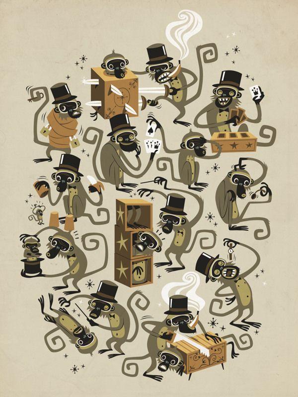 Monkey Magic - Tee by Marco Palmieri, via Behance