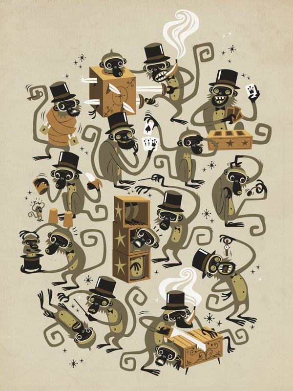 Monkey Magic - Tee by Marco Palmieri, via Behance