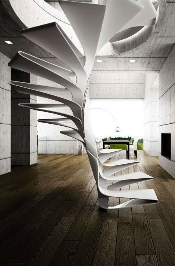 a really unique stairwell