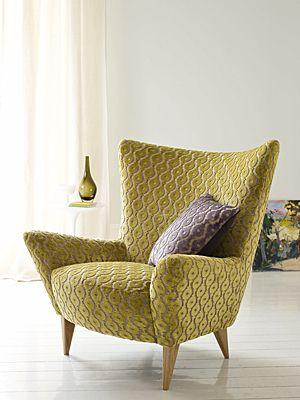Sessel mit Samt-Stoff