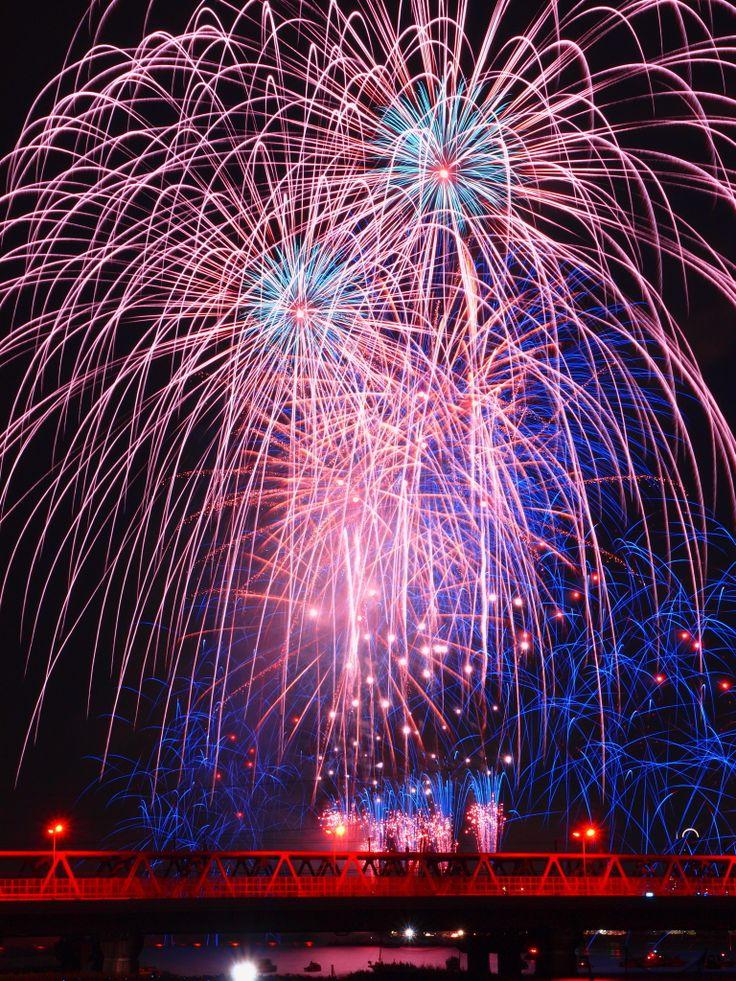 Naniwa Yodogawa Fireworks Festival, Yodogawa River, Osaka, Japan