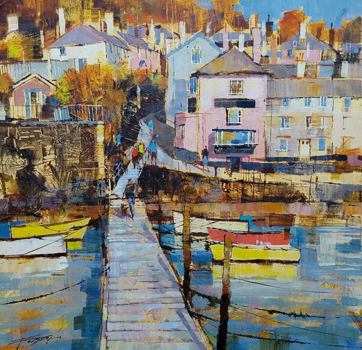 Chris Forsey Back from the ferry, Dittisham 20×20