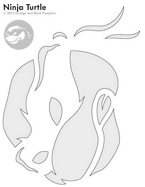 Nunja turtle  Pumpkin Carving Patterns _28