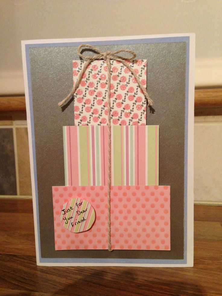 Birthday card with bakers twine