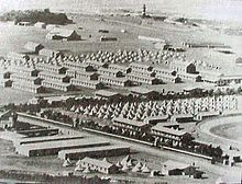 Second Boer War - ABW- A Transit camp for Prisoners of War near Cape Town during the war. Prisoners were then transferred for internment in other parts of the British Empire.