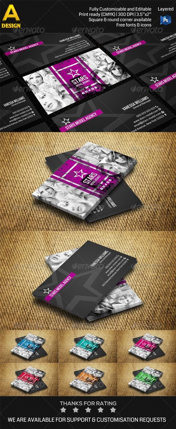 Model agency business card | Model agency, Business and Models