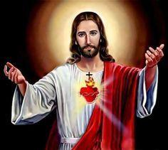 Oración al Sagrado Corazón de Jesús para poner tu vida y necesidades en sus manos #oracion Jesús #Dios #sagradocorazon #corazon #oraciones
