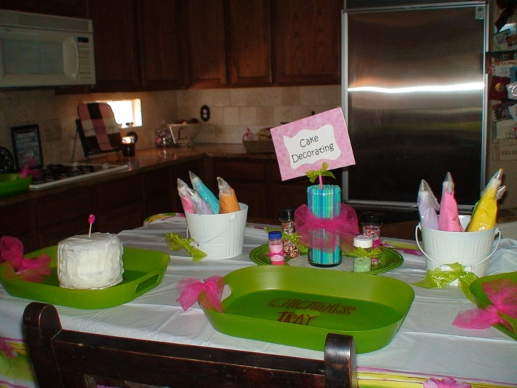 Cake Decorating Things Name : Baking Party - Decorate your own cake. Bought trays and ...