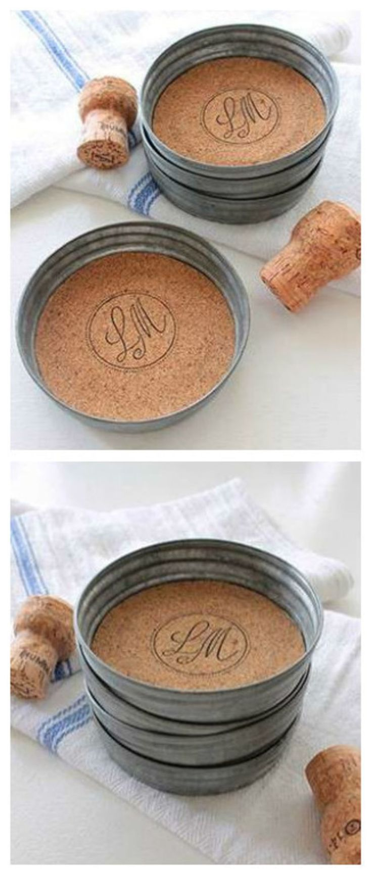 10.  DIY Mason Jar Lid Coasters!
