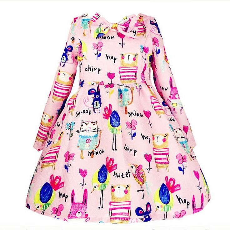 PINK GRAFFITI LONG SLEEVE DRESS – BABY OBSESSIONS