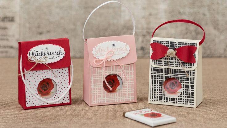 Tutorial:   Schokotäfelchen, süß verpackt mit Stampin' Up!