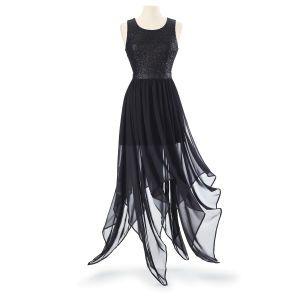 Fantastic Gt Womensclothing3 Gt Komarov Floral Chiffon Handkerchief Hem Dress