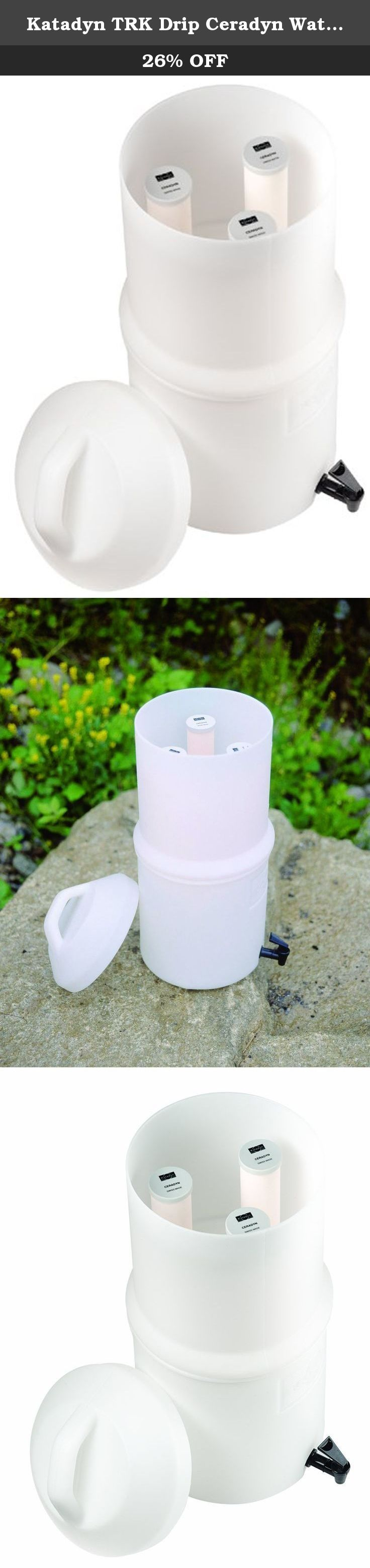 Katadyn TRK Drip Ceradyn Water Filter. No pumping required - water container with built-in ceramic filters. Used and trusted by relief agencies around the globe for many years.