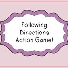 This game is intended for elementary aged students! It targets following directions in a fun game that allows your students to get active and have ...