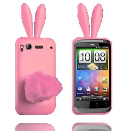 Bunny (Vaalean Pinkki) HTC Desire S Silikonisuojus