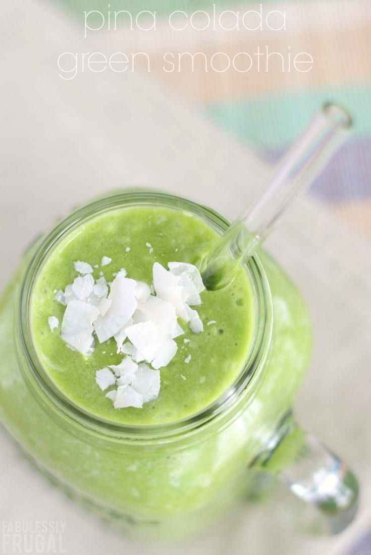 This green smoothie recipe is easy and delicious! Spinach, coconut milk, and pineapple provide lots of healthy benefits!