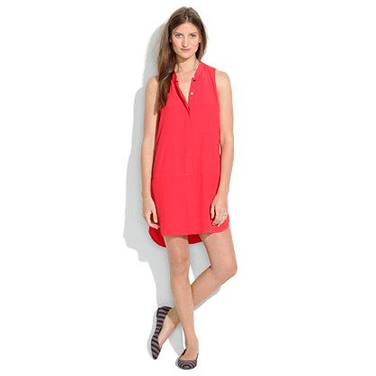 Sleeveless Tunic Dress @Madewell - I would live in this all summer!