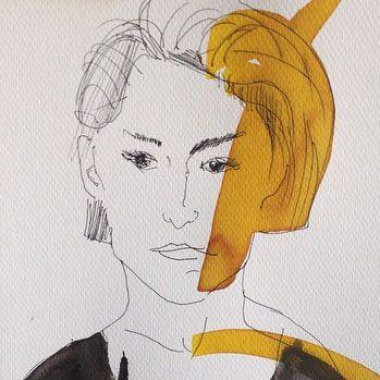 Ja #ink #watercolor #drawing #portrait #inkdrawing