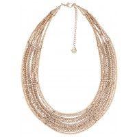 Plastron multi-rangs à perles