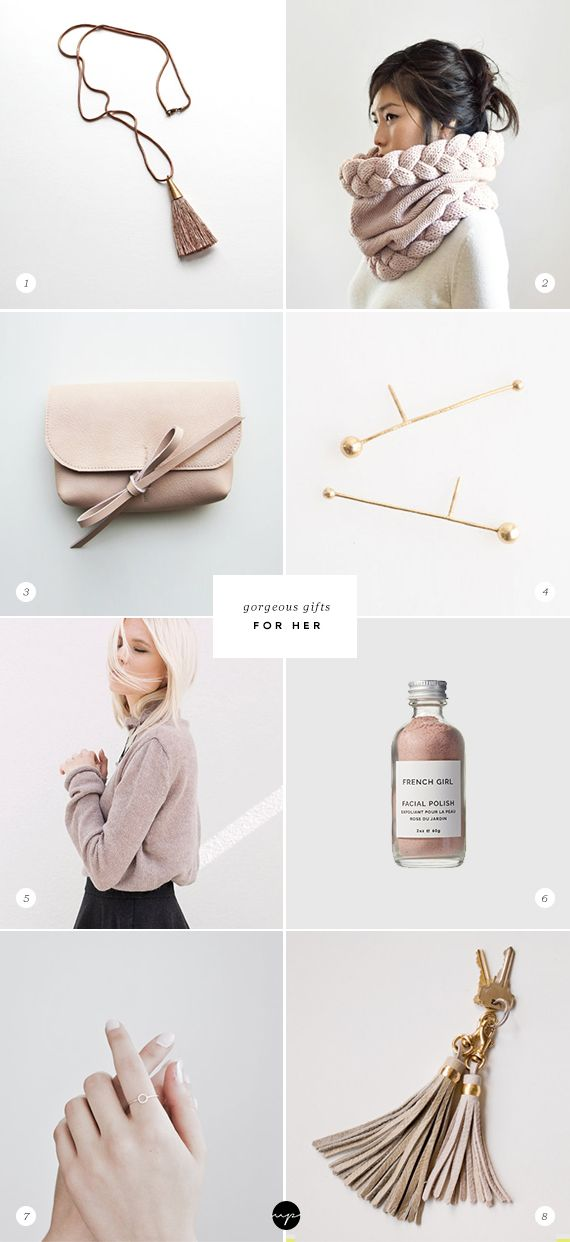 blush pink gifts for her