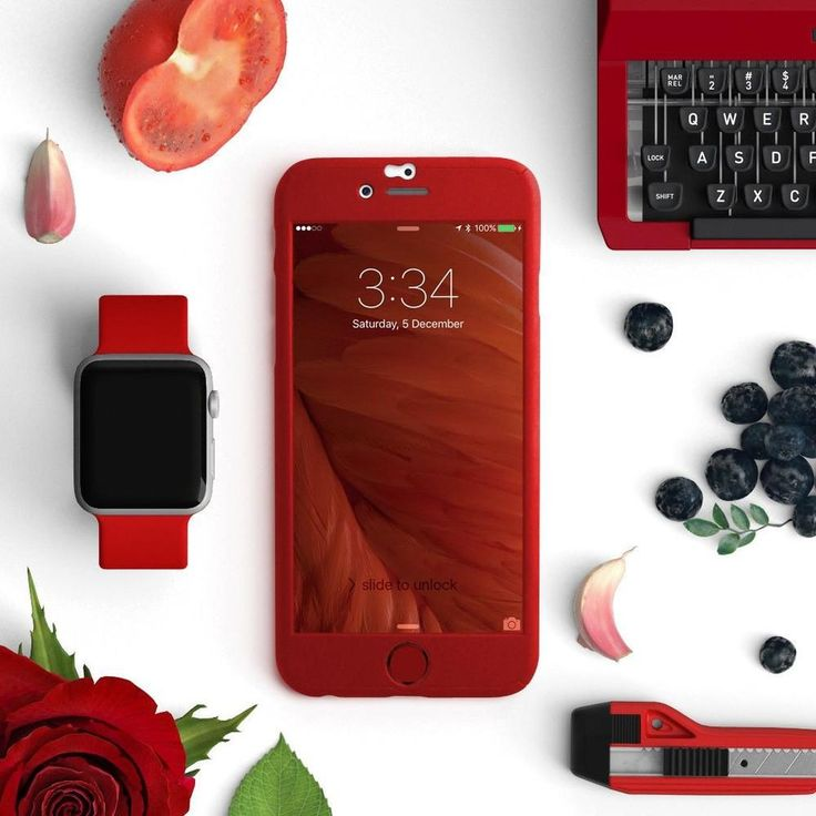 Full protection iPhone 6 / 6s red case - Decouart - 1
