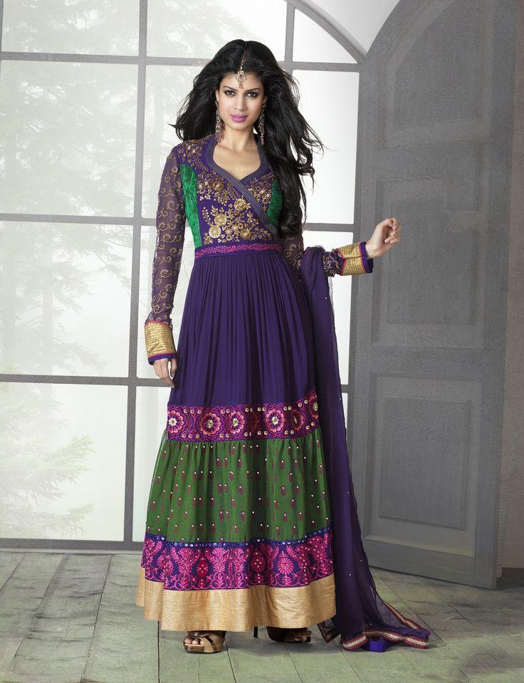 #Multicolored #anarkalisuit #dressmaterial #salwarkameez #trendykurtis