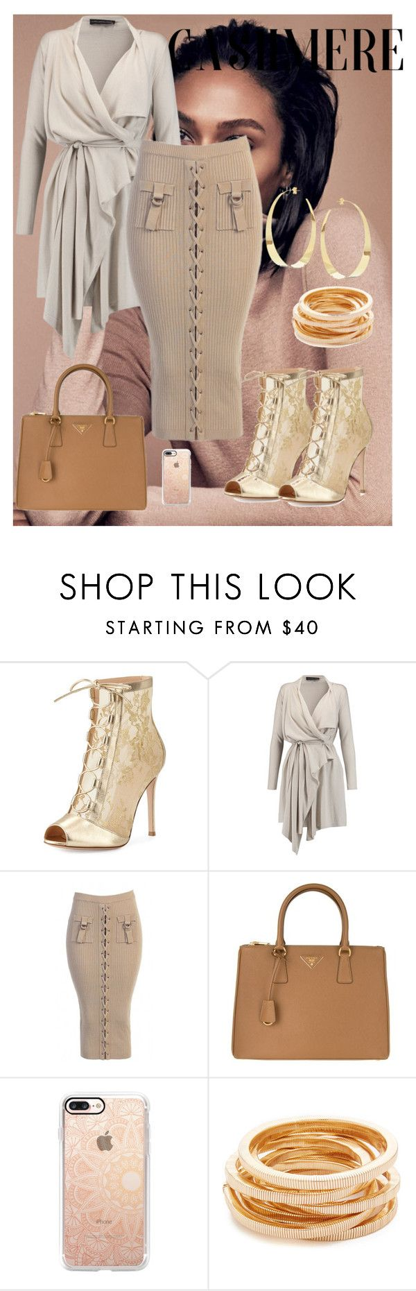 """#voteme"" by th3-qu33n-25 on Polyvore featuring Gianvito Rossi, Maria Grachvogel, Prada, Casetify, Kenneth Jay Lane and Lana"