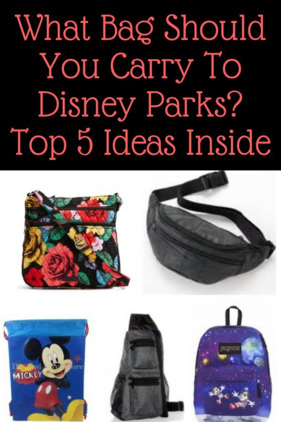 What Bag Should You Carry To Disney Parks Top 5 Ideas Inside Travel Pinterest Trips And Vacations